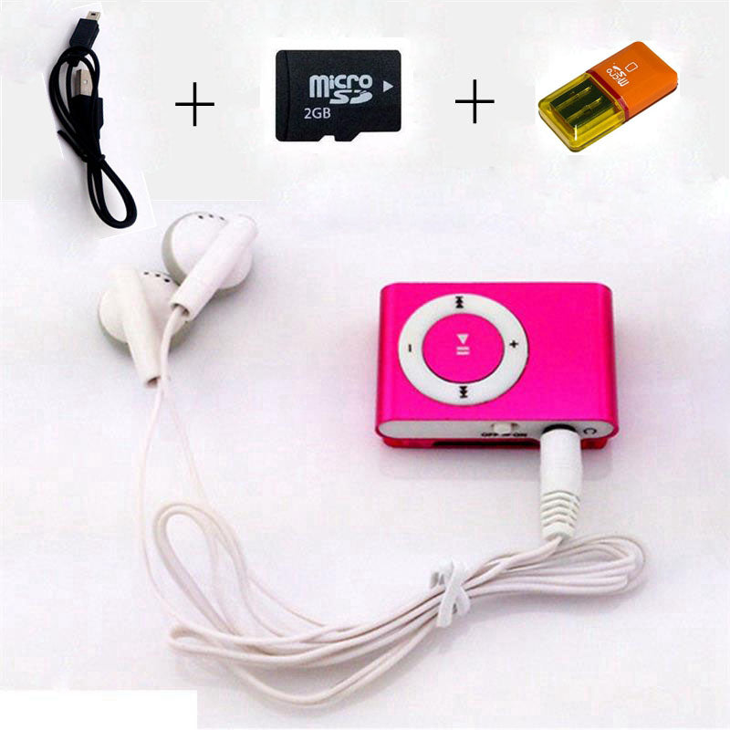 MLLSE MP3 Colorful Mini Mp3 Music Player Mp3 Player Micro TF Card Slot USB MP3 Sport Player USB Port With Earphone 2GB  TF Card