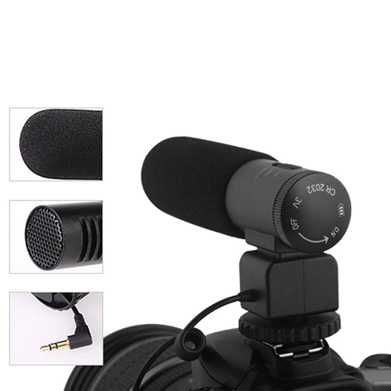 KINGKONO Camera Recording Microphone Professional Interviewing Handheld