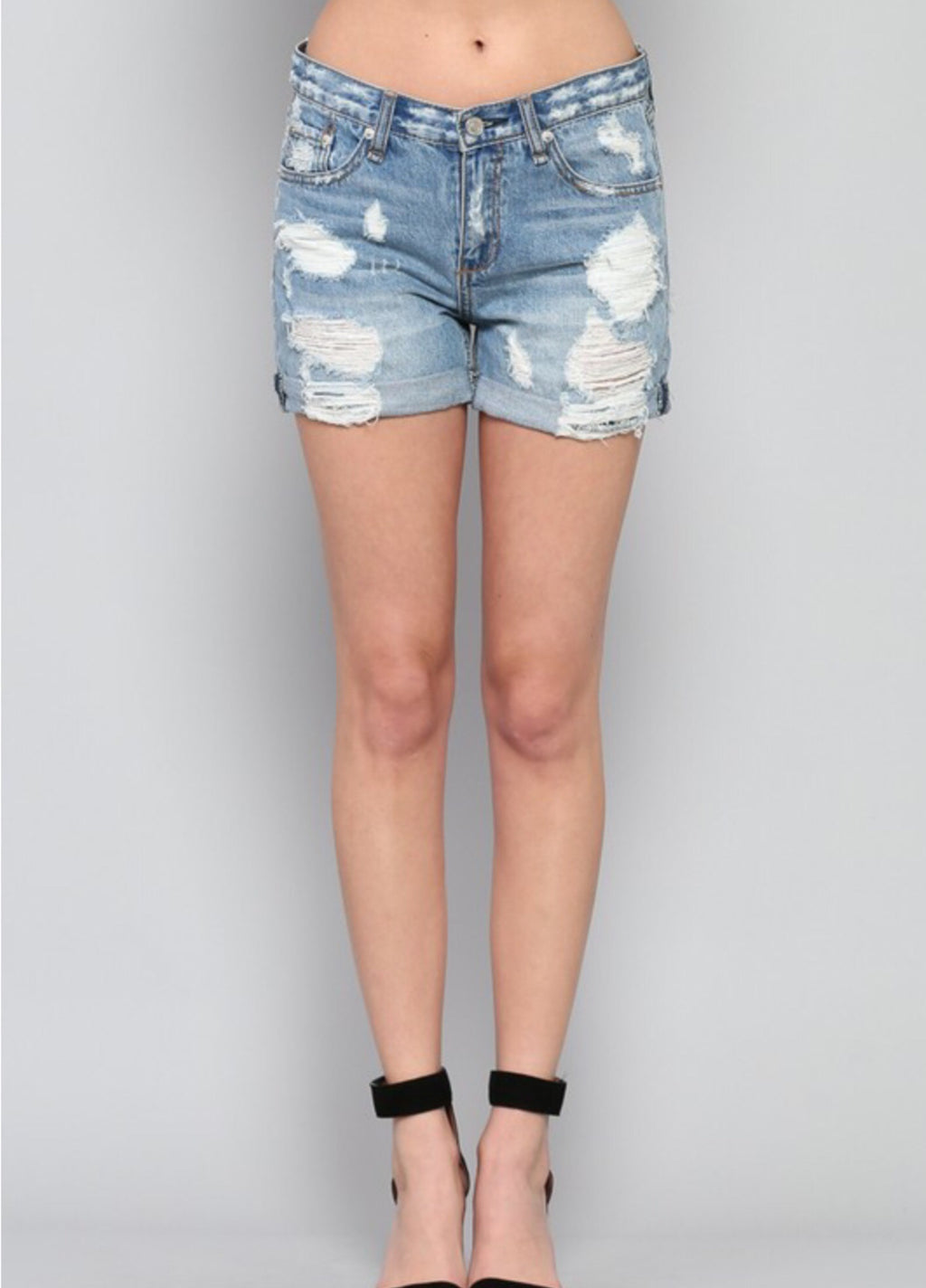 Mean a Girls Distressed Shorts