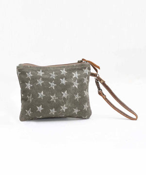 Star Spangled Canvas Zipper Pouch