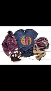 Thankful Serape Pumpkin tee