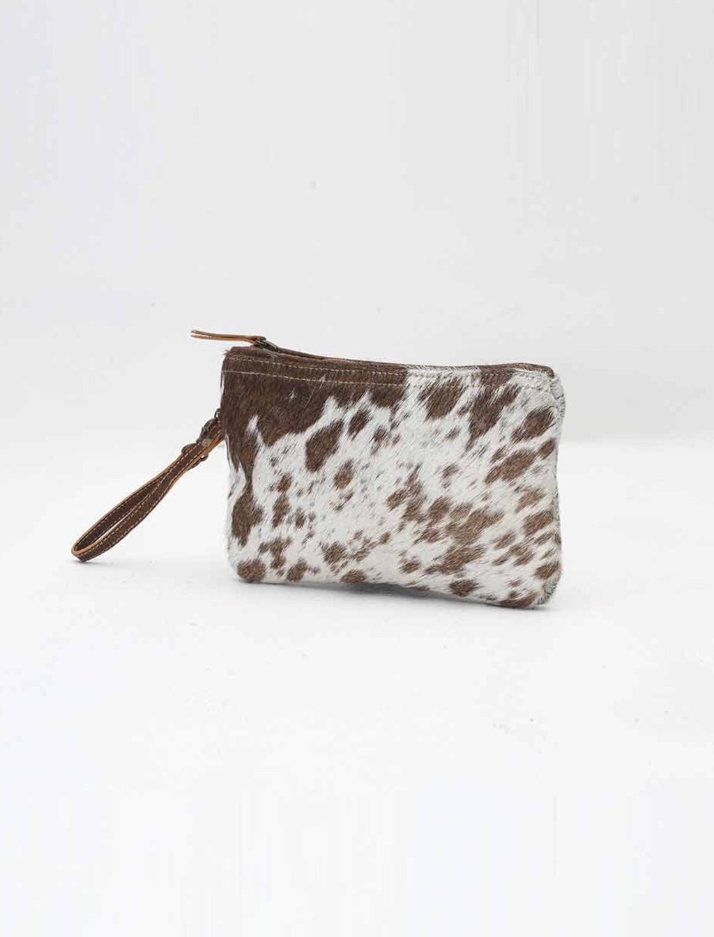 Small Hide Zipper Clutch