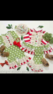 Girls Cindy Lou Holiday Romper