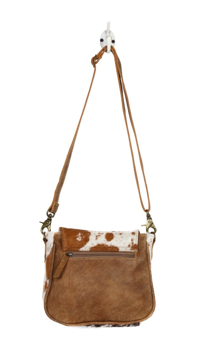 Flap Over Hairon Small Cross Body Bag