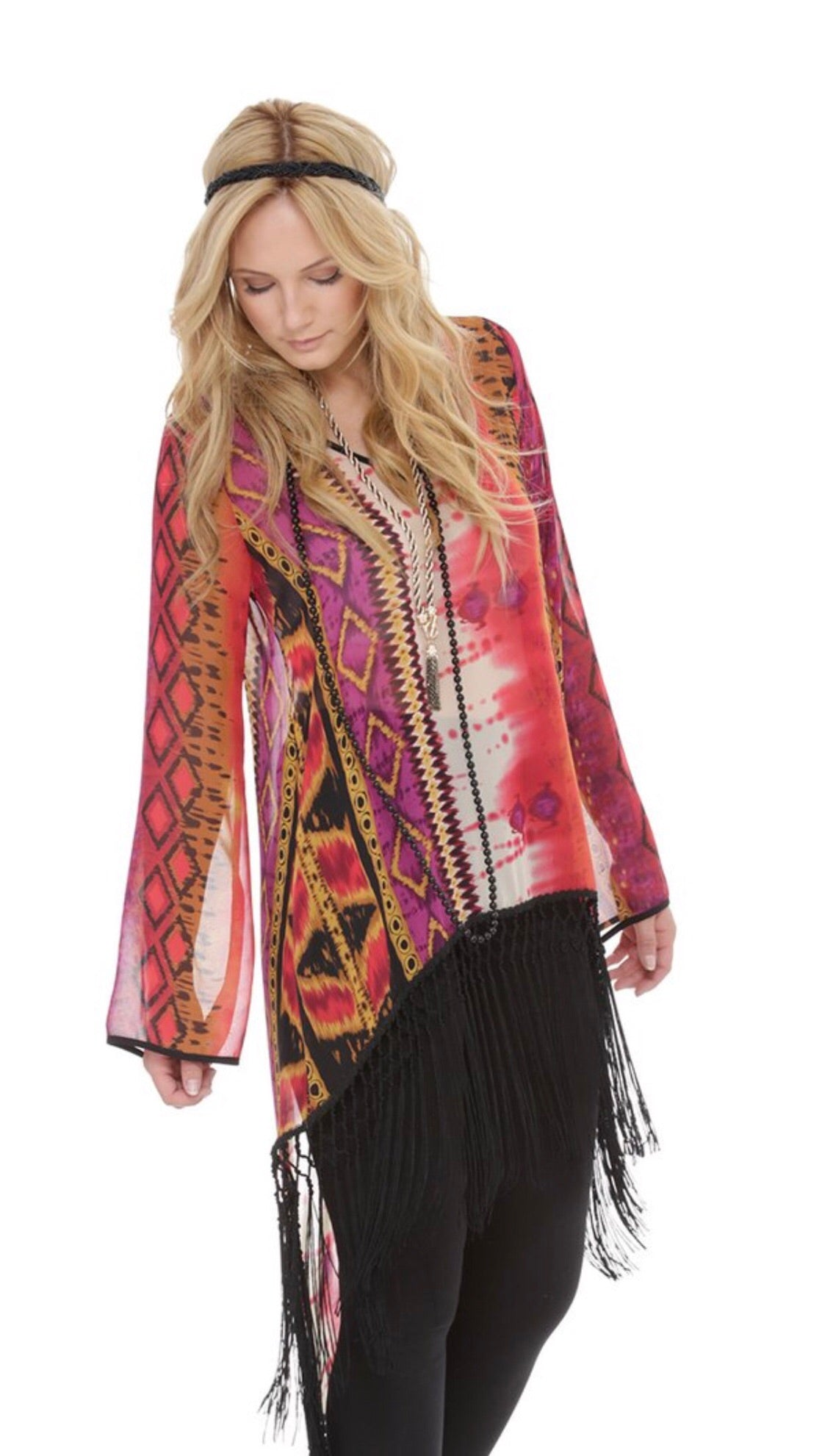 Hunter Tribal Fringe Top