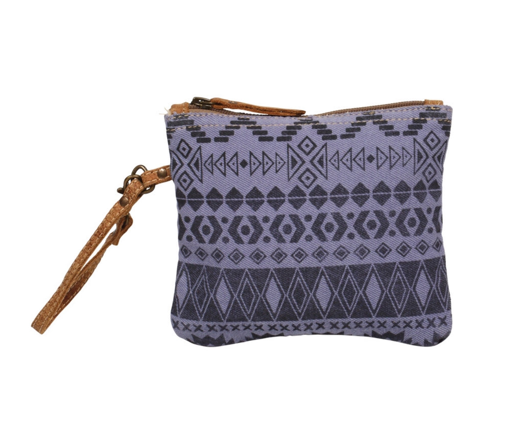 Purple tribal pouch