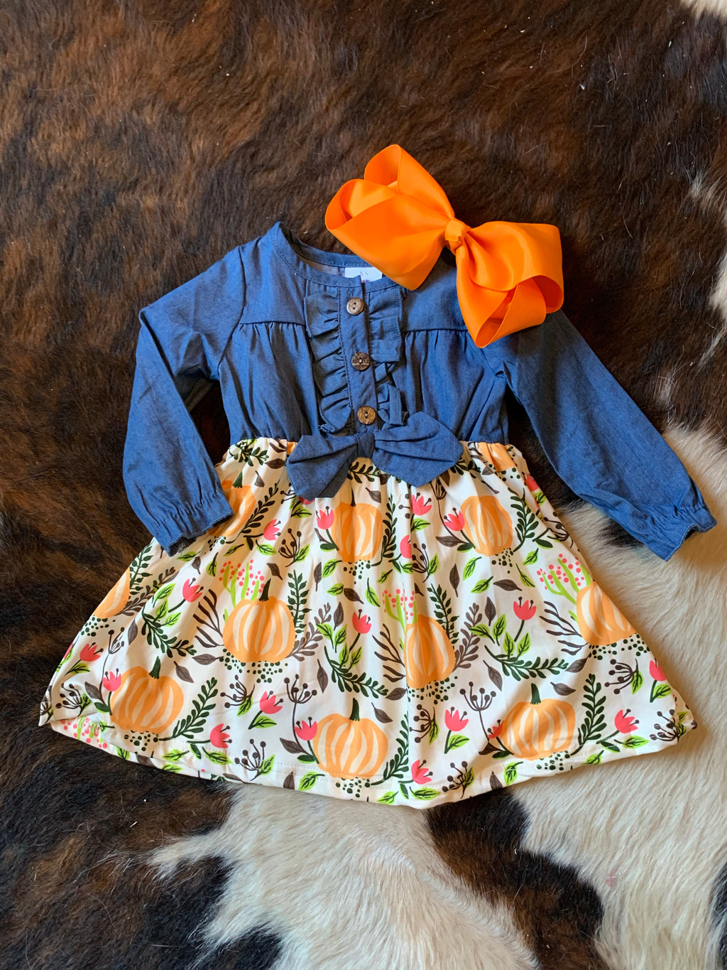 G Chambray Pumpkin Dress