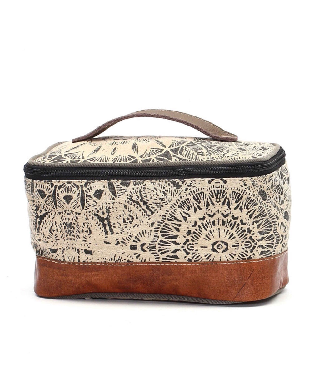 Floral Print Shaving Kit Bag