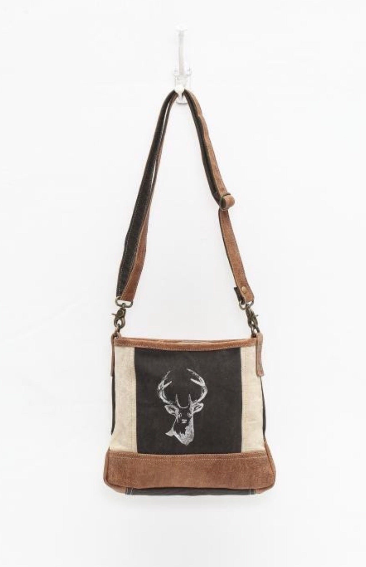 Vintage Stag Crossbody Purse