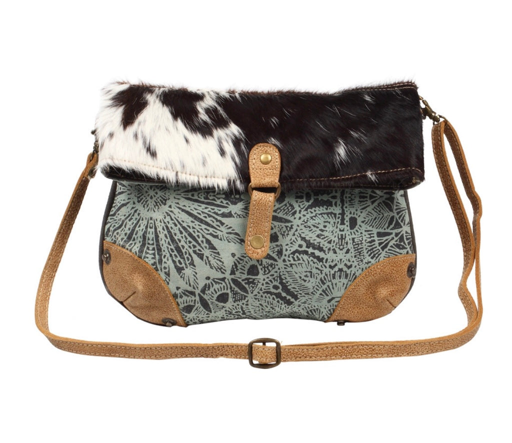 Hairon Flap CrossBody Bag