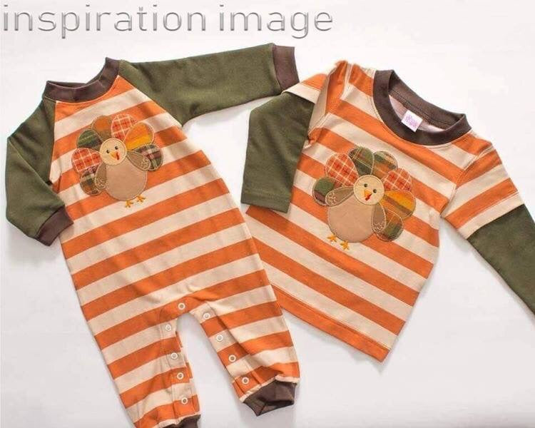 Boys Tommy Turkey Romper