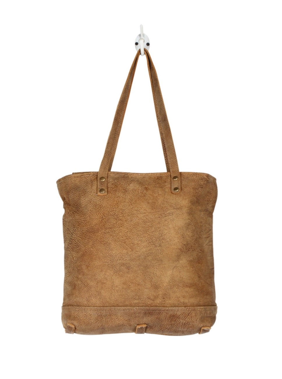 Hazel Opulence Leather and Hairon Bag