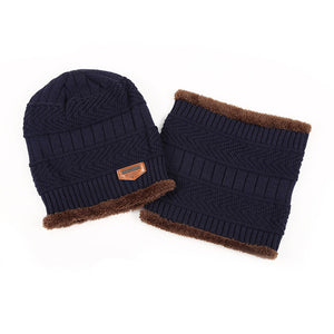 Boys Men Winter Hat Knit Scarf Cap Winter Hats for Men Caps Warm Fur Skullies Beanie Bonnet Hat Man 2017 Mens Winter Hats