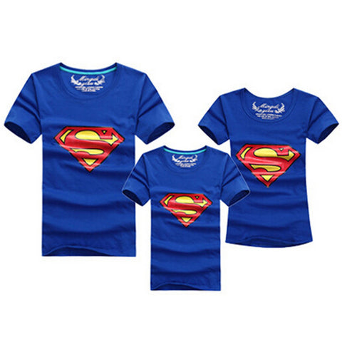 1pcs Fashion Superman Family Matching Outfits T-shirt 11 Colors Clothes For matching family clothes mother father daughter son