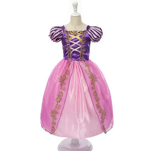 Rapunzel Sleeping Beauty Girls Party Dress