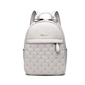PU Leather Beads Backpacks