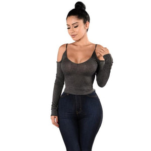 Women's Off Shoulder Long Sleeve Top
