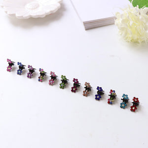 Crystal Flowers Metal Hair Clip