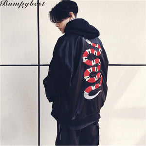 Men's Snake Embroidery Winter Jacket