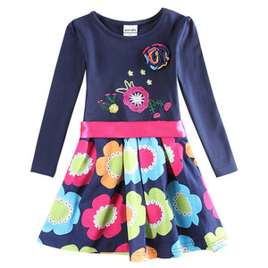 Novatx Baby Girl Flower Long Sleeve Dress
