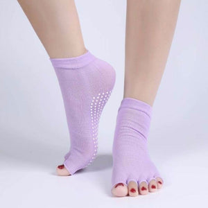 Women professional Yoga socks Non-slip Women five finger Toe Socks Athletic Sport Pilates Massage Socks Free Shipping