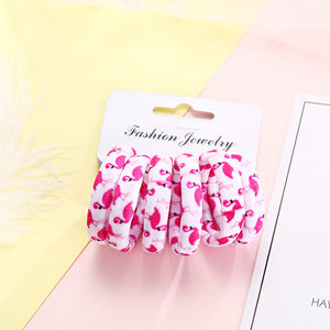 Elegant Cotton Print Hair Ropes/Elastic Headbands