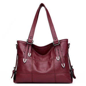 Leather Tote Handbag for Classy Women