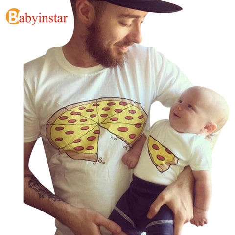 Babyinstar 2018  New Father Baby Clothes Summer Short Sleeve Cotton t-shirt Outwear Fashion Family Matching Outfits