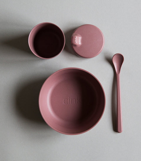 Baby Bamboo Dinnerware Set in Beet by Cink