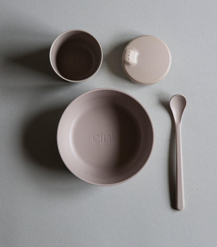 Kids Bamboo Dinnerware Set in Fog by Cink