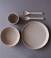 Toddler Bamboo Dinnerware Set in Fog by Cink