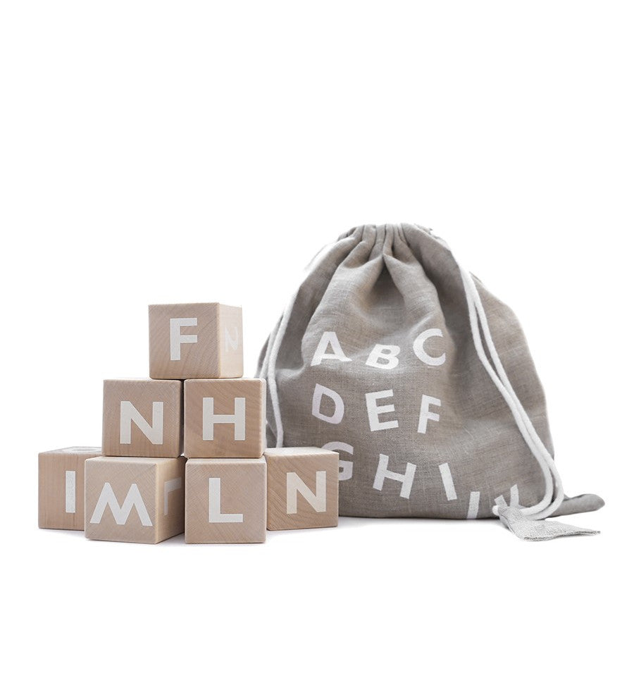 Alphabet Blocks in White by Ooh Noo