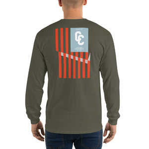 College Clout Originals: American Flag Long Sleeve T-Shirt