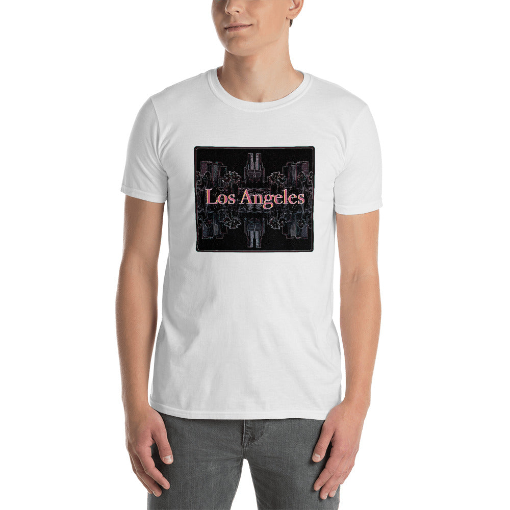 Los Angeles Skyline Short-Sleeve Unisex T-Shirt