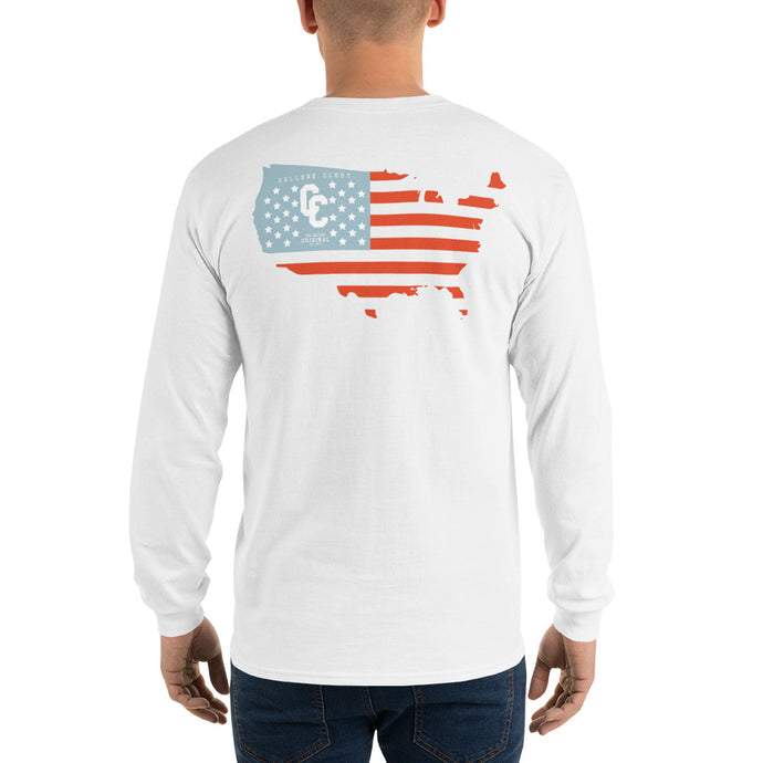 College Clout Originals: USA Map Long Sleeve T-Shirt