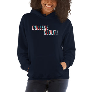 College Clout Originals: 3D (White) Hooded Sweatshirt