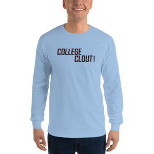 College Clout Originals: 3D (Black) Long Sleeve T-Shirt