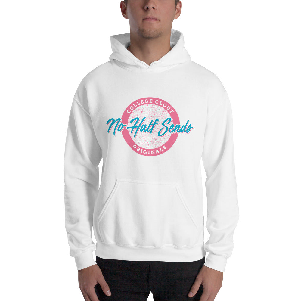 College Clout Originals: No Half Sends - Miami Vice Hooded Sweatshirt