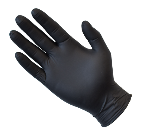 Black Nitrile Gloves - Powder Free - EnviroChem Australia