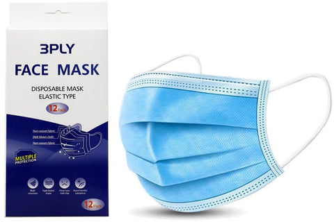 Face Masks Disposable  ( 12 Pack ) - EnviroChem Australia