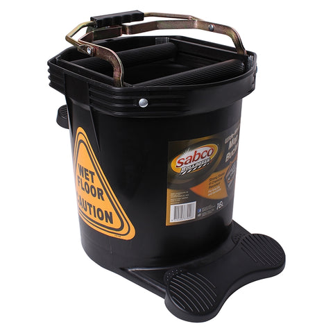 Sabco Bulldozer XL Yellow Wide Mouth Mop Wringer Bucket - EnviroChem Online