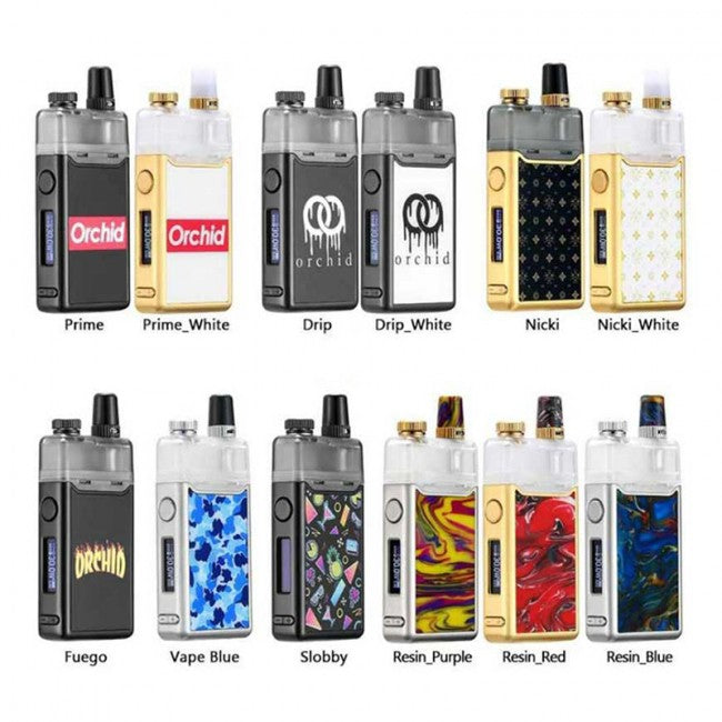 Orchid Vape Device Kit Colors