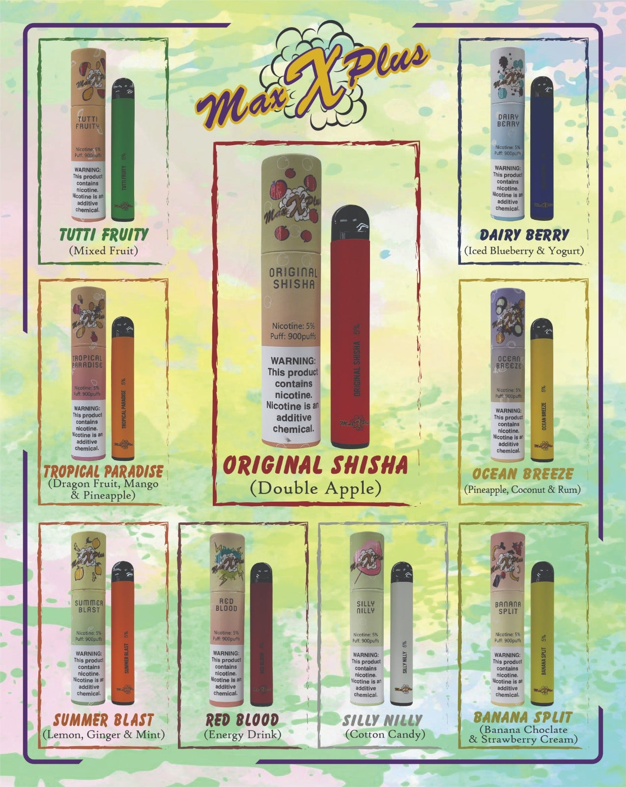 Max X Plus Disposable Vape Device (All flavors)