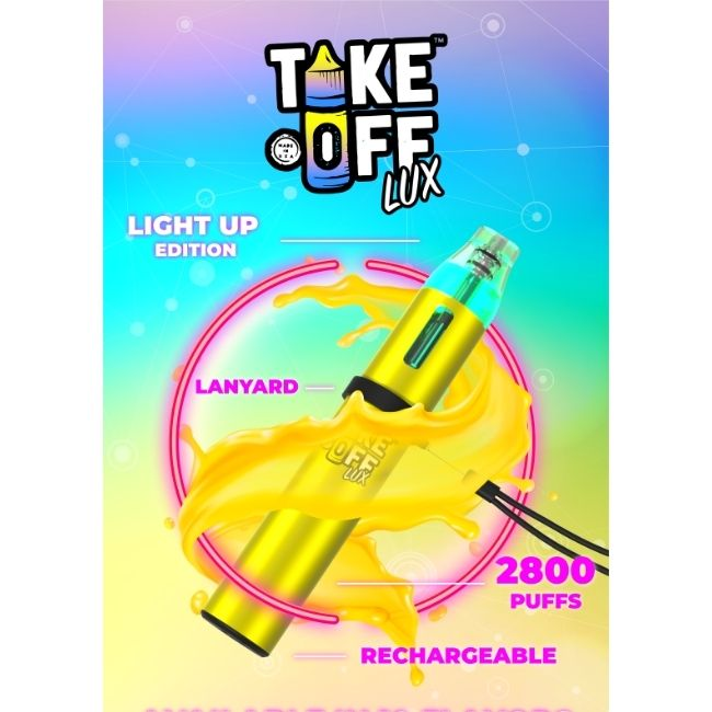 take off lux rechargeable disposable vape