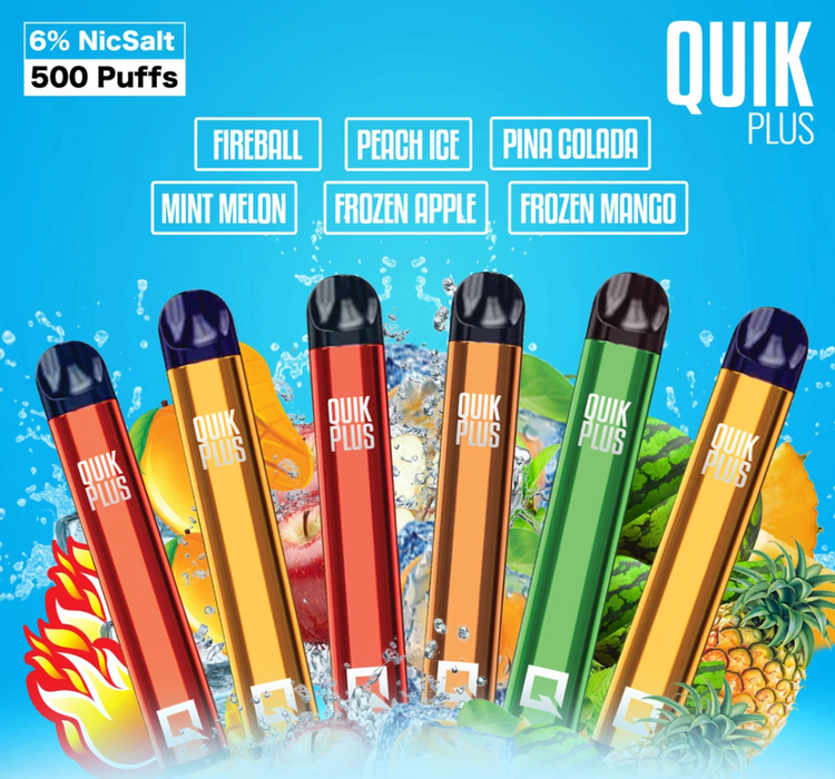 Quik Plus Vape (Disposable Device with 600 Puffs)