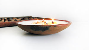 Brazilian Ceramic Candle | Top view