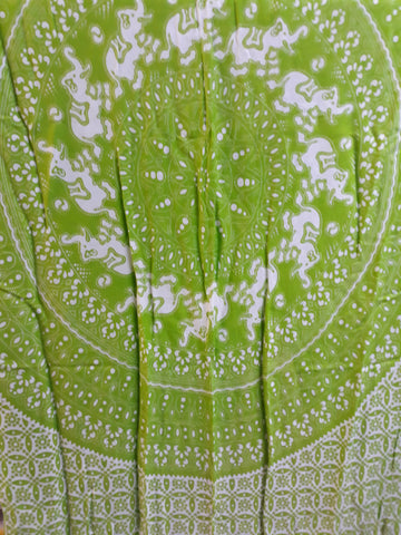 Sarong Tube Butterfly White/Green