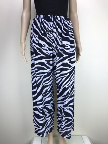 Shirred Pants Animal Zebra