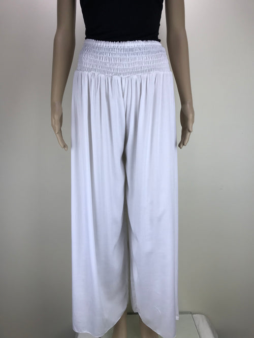 Shirred Pants  White