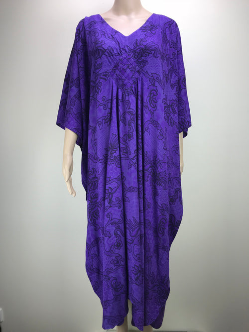 Diamond Kaftan Vine Purple/Black